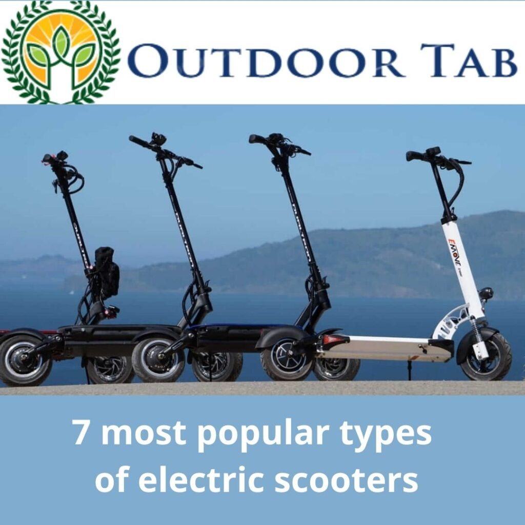 7 most popular types  of electric scooters